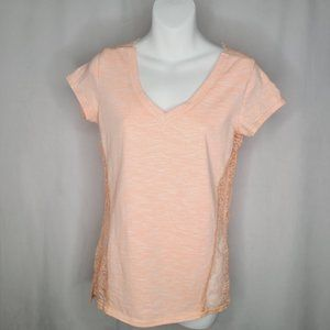 Fox Coral with Lace Embellishments T-shirt